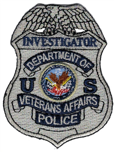 Silver VA Police Badge Patch - Investigator
