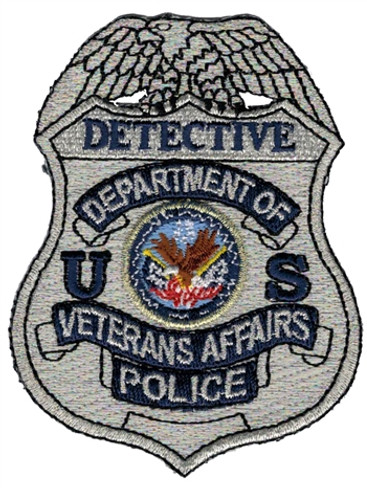 Silver VA Police Badge Patch - Detective