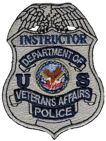 Silver VA Police Badge Patch - Instructor