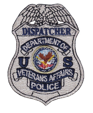 Silver VA Police Badge Patch - Dispatcher