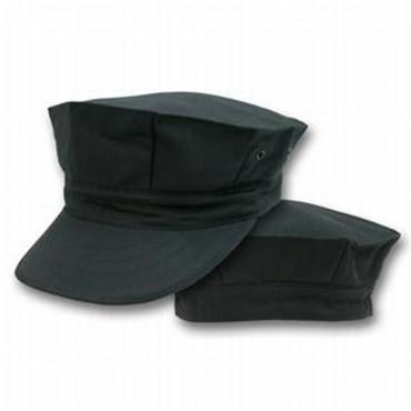 Black 8 Point Cap (US Made)