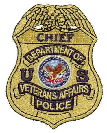 Gold VA Police Badge Patch - Chief