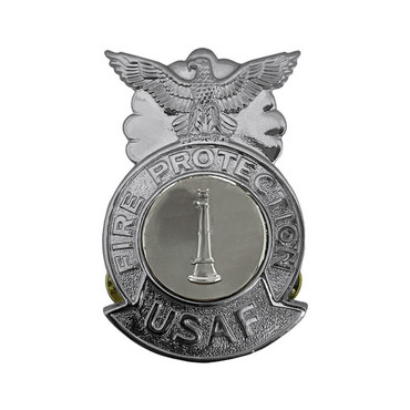 1-Bugle Large Chrome Badge (Silver Center)