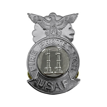 2-Bugle Parallel Large Chrome Badge (Silver Center)