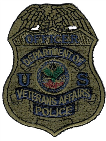 Subdued VA Police Badge Patch - Officer