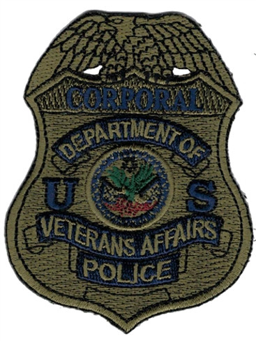 Subdued VA Police Badge Patch - Corporal