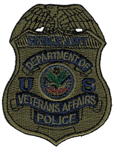 Subdued VA Police Badge Patch - Sergeant