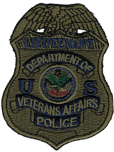 Subdued VA Police Badge Patch - Lieutenant