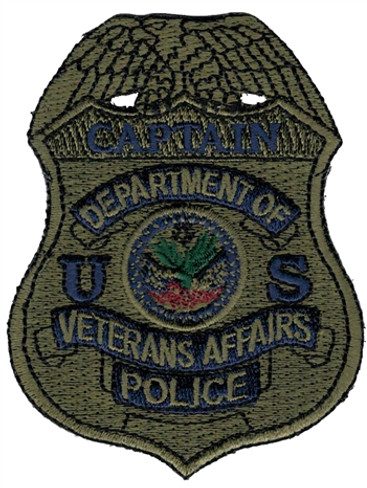 Subdued VA Police Badge Patch - Captain
