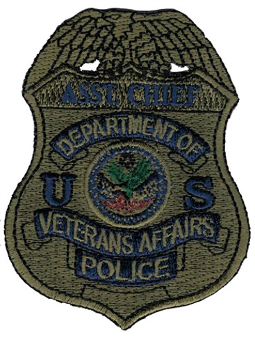 Subdued VA Police Badge Patch - Asst. Chief