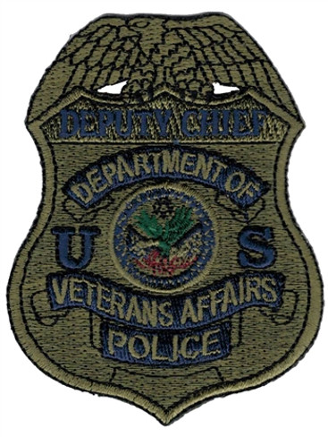 Subdued VA Police Badge Patch - Deputy Chief