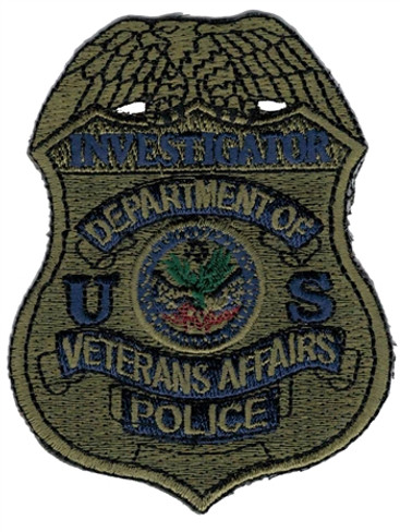 Subdued VA Police Badge Patch - Investigator