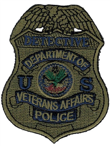 Subdued VA Police Badge Patch - Detective