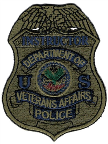 Subdued VA Police Badge Patch - Instructor