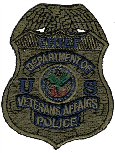 Subdued VA Police Badge Patch - Chief