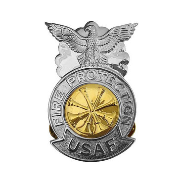 Dep. Chief Large Chrome Badge (Gold Center)