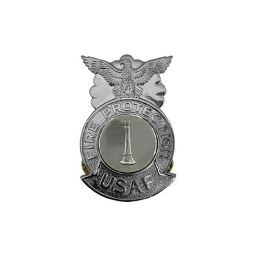 1-Bugle Small Chrome Badge (Silver Center)