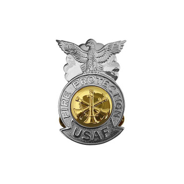 Asst. Chief Small Chrome Badge (Gold Center)