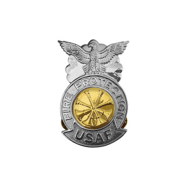 Dep. Chief Small Chrome Badge (Gold Center)