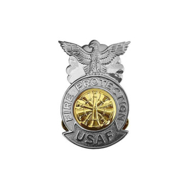 Chief Small Chrome Badge (Gold Center)