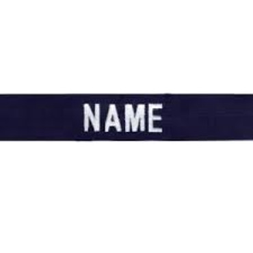 VA Police Last Name Tape