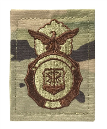 Multicam OCP Security Forces Pocket ID Badge with Hook Backing