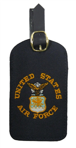 5 Luggage Tags with Air Force Logo