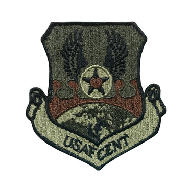 Multicam OCP USAFCENT Patch With Black Border With Hook Backing