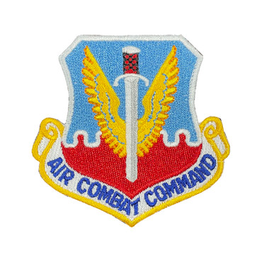 Full Color ACC Air Combat Command Patch With Hook Backing