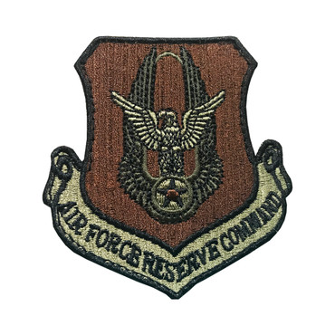 Multicam OCP AFRC Air Force Reserve Command Patch With Black Border With Hook Backing