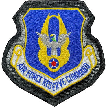 Full Color AFRC Air Force Reserve Command Patch With Hook Backing With Leather