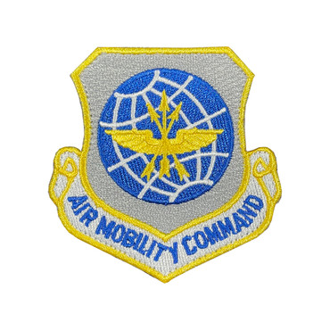 Full Color AMC Air Mobility Command Patch With Hook Backing