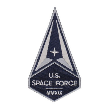 Full Color 4 Inch U.S. Space Force MMXIX Patch With Hook Backing