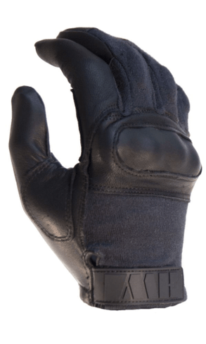 Black Hard Knuckle Tactical Glove By HWI Gear