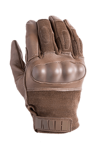 Coyote Hard Knuckle Tactical Glove By HWI Gear