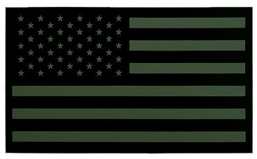 IR American Flag Patch - Subdued (Olive Drab - Left Side)