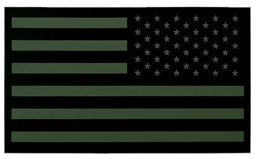 IR American Flag Patch - Subdued (Olive Drab - Right Side)