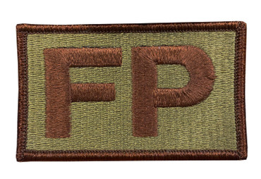 Multicam OCP FP Patch with Hook Backing (Spice Brown Letters and Border)