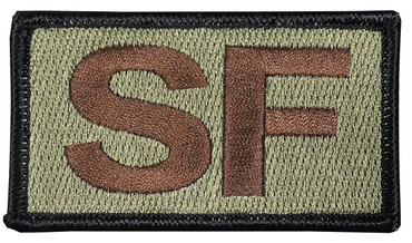 Multicam OCP SF Patch with Hook Backing (Spice Brown Letters and Black Border)