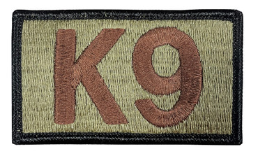 Multicam OCP K9 Patch (Hook Backing, Spice Brown Letters, Black Border)