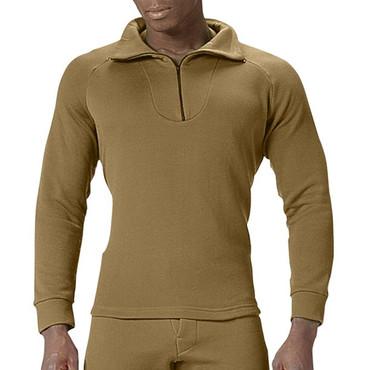 Coyote Brown ECWCS Polyester Zip Collar Shirt