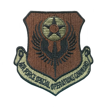 Multicam OCP AFSOC Air Force Special Operations Command Patch With Black Border With Hook Backing