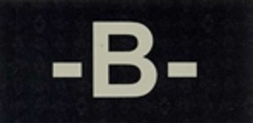 IR Blood Type Patch - B - Negative