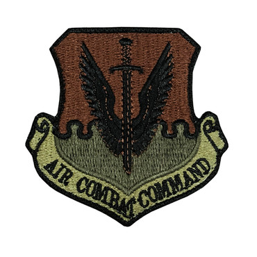 Multicam OCP ACC Air Combat Command Patch With Black Border With Hook Backing