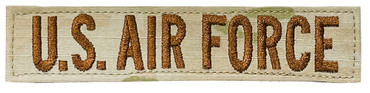 U.S. AIR FORCE Name Tape - Multicam OCP With Hook Backing