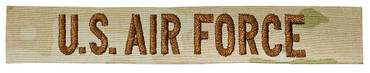 U.S. AIR FORCE Name Tape - Multicam OCP Sew On