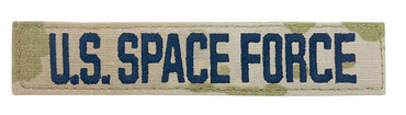 U.S. SPACE FORCE Name Tape - Multicam OCP With Space Blue Thread and Hook Backing