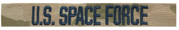 U.S. SPACE FORCE Name Tape - Multicam OCP With Space Blue Thread Sew On