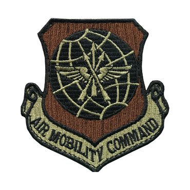 Multicam OCP AMC Air Mobility Command Patch With Black Border With Hook Backing