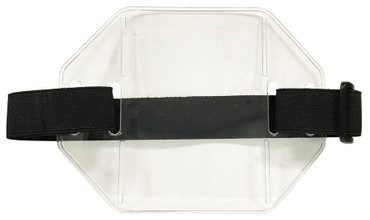 Military Armband with ID Holder (Black Strap)